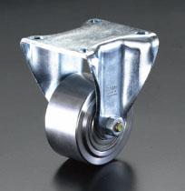 エスコ(ESCO) 80mm キャスター(固定金具・スチール車輪) EA986NM-80