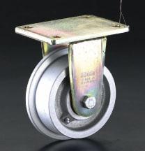 エスコ(ESCO) 250mm キャスター(スチール車輪・レール用) EA986NV-250
