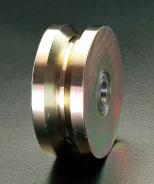 エスコ(ESCO) 125x50mm ダブルフランジホイール(ベアリング入) EA986RK-125