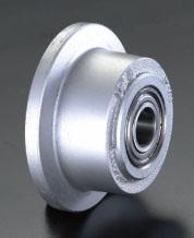 エスコ(ESCO) 250x65mm 車輪(ボールベアリング・鋳鋼製・レール用) EA986SD-250