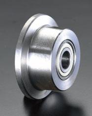 エスコ(ESCO) 125x50mm 車輪(Bベアリング・スチール製・レール用) EA986SF-125
