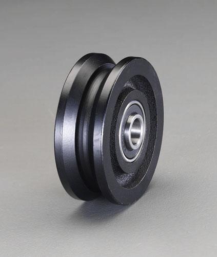 エスコ(ESCO) 150mm 戸車車輪(V型・重量用) EA986VA-350
