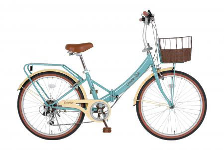 エスコ(ESCO) 24インチ 折畳み式自転車(グレイブルー) EA986Y-26
