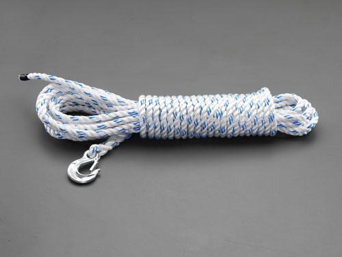 エスコ(ESCO) 12.7mmx30m ロープ(フック付) EA988ME-130