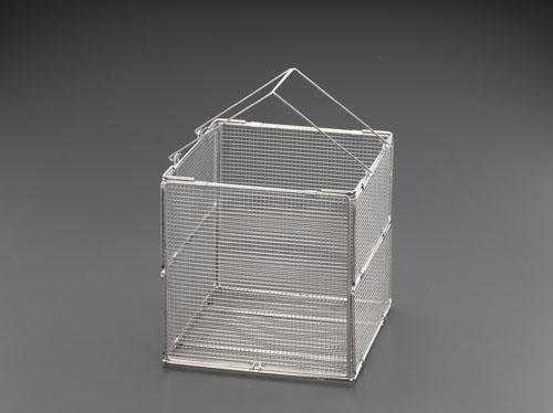 エスコ(ESCO) 315x315x300mm 洗浄かご(折畳式/ステンレス製) EA992CV-16