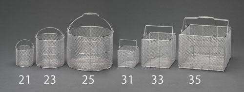 エスコ(ESCO) φ300x300mm 洗浄かご(丸型/ステンレス製) EA992CV-24