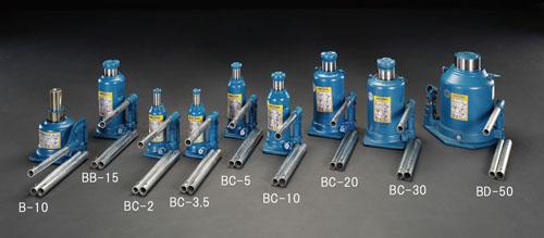 エスコ(ESCO) 10ton/120-230mm 油圧ジャッキ(低床型) EA993B-10