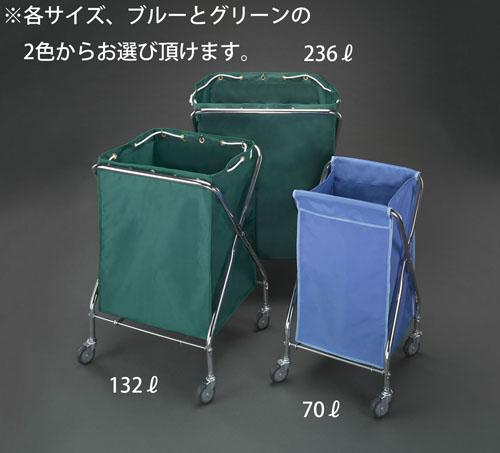 エスコ(ESCO) 415x409x751mm ダストカート(エコ袋(青)付) EA995AA-51F