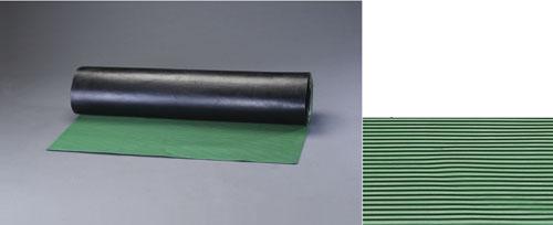 エスコ(ESCO) 1.0x10m/3.0mm ゴムマット(横筋・緑) EA997RA-11