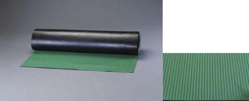 エスコ(ESCO) 1.0x10m/3.0mm ゴムマット(縦筋・緑) EA997RA-12