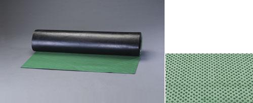 エスコ(ESCO) 1.0x10m/3.0mm ゴムマット(ドット筋・緑) EA997RA-13