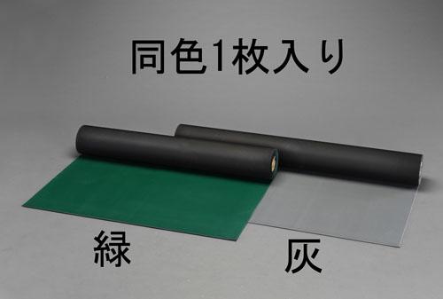 エスコ(ESCO) 1.2x2.0m/3.0mm ゴムマット(筋入・緑) EA997RA-41