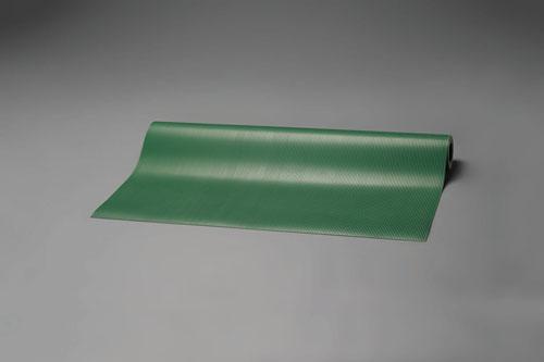 エスコ(ESCO) 1.0x5.0m/3.0mm ゴムマット(筋入・緑) EA997RA-5