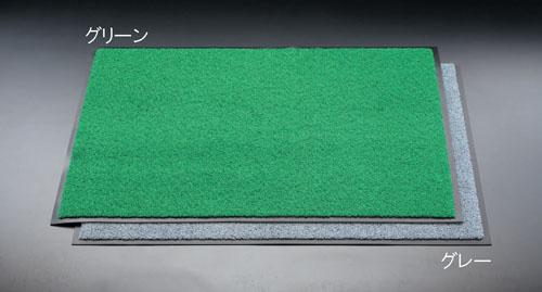 エスコ(ESCO) 900x1500mm 玄関マット(緑) EA997RH-85