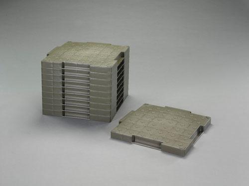 エスコ(ESCO) 500x500x45mm 樹脂製敷板(ロードマットOD/10枚) EA997RZ-50
