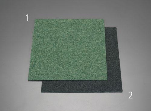 エスコ(ESCO) 500x500x6mm タイルカーペット(グリーン) EA997TD-1