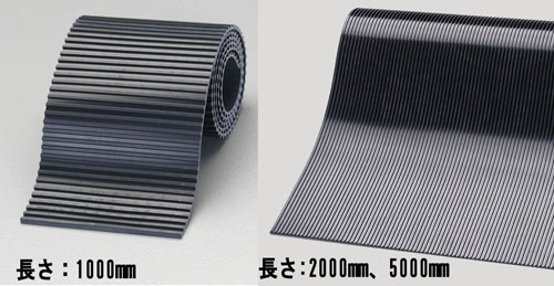 エスコ(ESCO) 500x5000x5mm ゴム板(筋入り・天然ゴム) EA997XJ-59