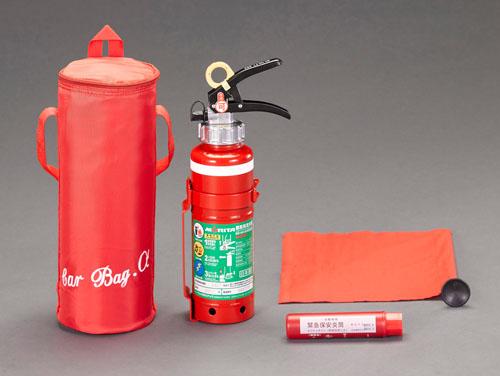 エスコ(ESCO) 1.0kg 消火器セット(愛車用) EA999MD-3A