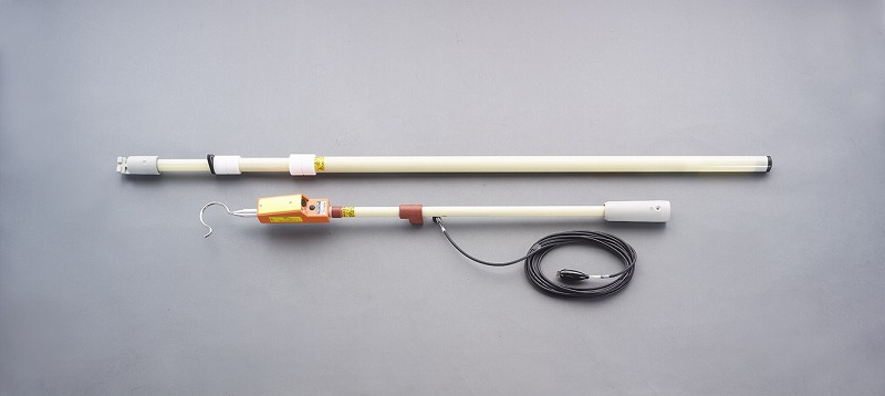 エスコ(ESCO) AC6.6KV/DC1.0-7.0KV 電車線用高圧検電器 EA707DN-12