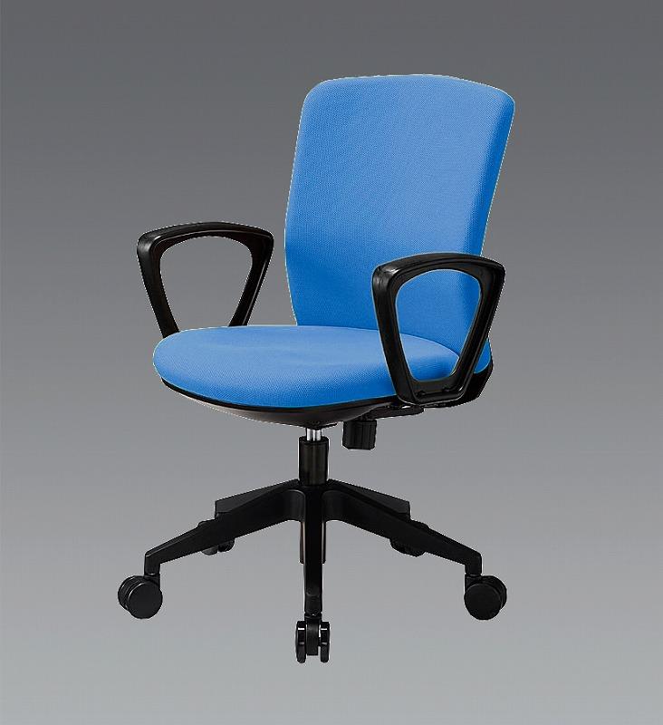 代引き人気 店 エスコ(ESCO) ビジネスチェアー(肘付/ブルー) EA956XA-242:工具屋のプロ-その他