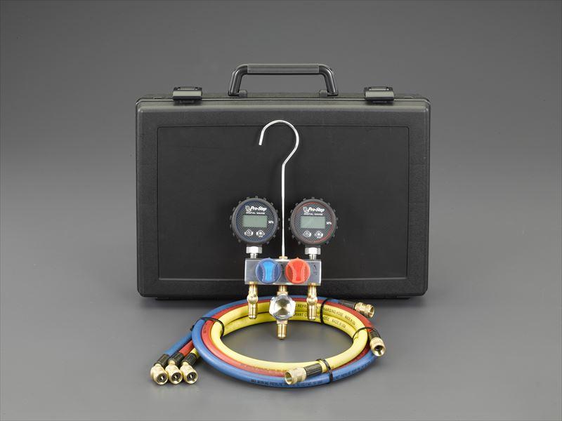 エスコ(ESCO) ボールバルブ式デジタルゲージマニホールドキット EA101TS-2