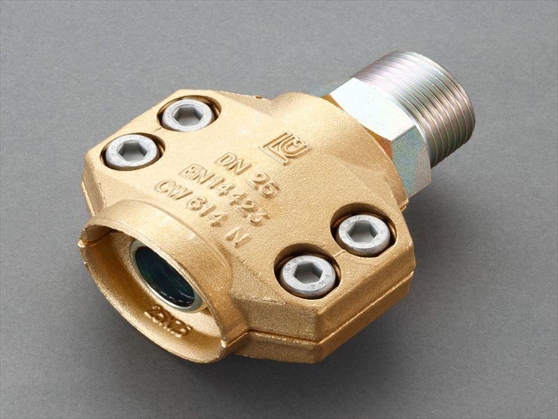 エスコ(ESCO) 38mm用雄ねじ セーフティーホースクランプ(スチーム・温水用) EA141BL-14