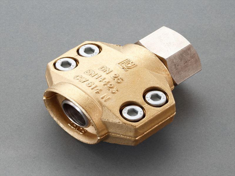 エスコ(ESCO) 25mm用雌ねじ セーフティーホースクランプ(スチーム・温水用) EA141BM-108
