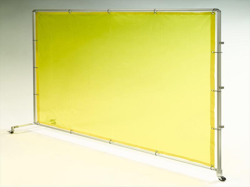 エスコ(ESCO) 2000x2000mm 溶接作業フェンスセット(黄色) EA334BS-20Y