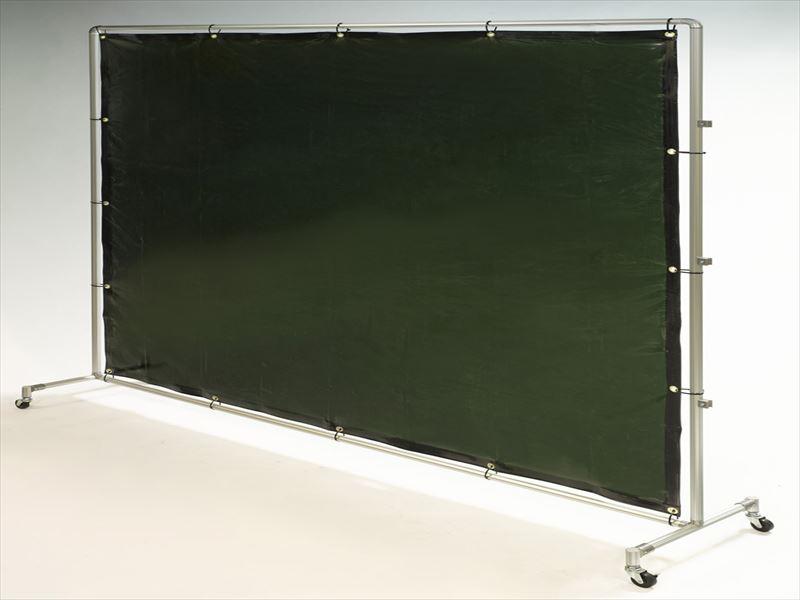 エスコ(ESCO) 2000x2000mm 溶接作業フェンスセット(ダークグリーン) EA334BV-20G