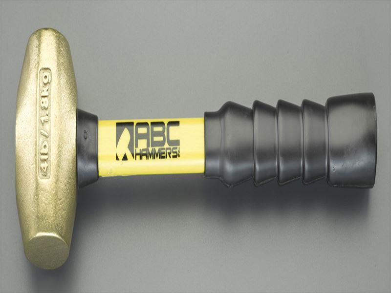エスコ(ESCO) 900g/38mm 真鍮ハンマー(グラスファイバー柄) EA575EL-1