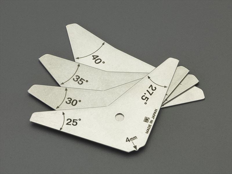 エスコ(ESCO) 25°-42.5° 溶接角度限界ゲージ(ステンレス製) EA719K-50