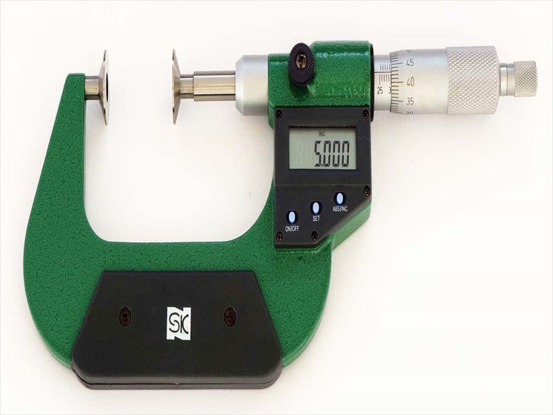 エスコ(ESCO) 25- 50mm デジタルマイクロメーター(歯厚) EA725EH-76