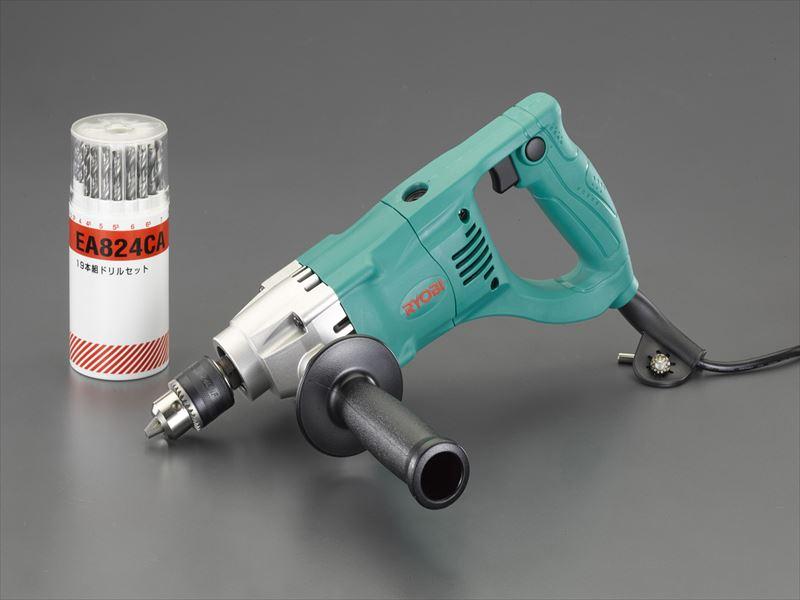 エスコ便利カタログNo.50:844P掲載 エスコ ESCO 保証 10mm EA801AB-2SA 電気ドリルセット 390W 限定Special Price
