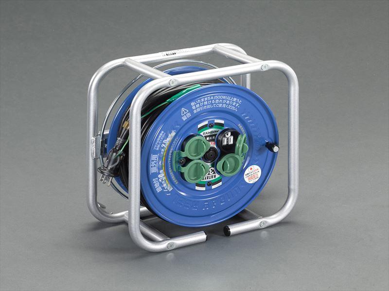 エスコ便利カタログNo.50:945P掲載 エスコ ESCO AC125V 日本正規代理店品 15A 激安価格と即納で通信販売 30m コードリール EA815BF-40 防雨 アース付