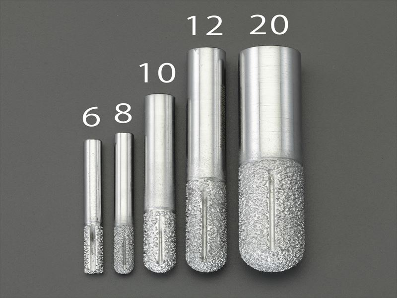 エスコ(ESCO) 12mm ダイヤモンドルーター(複合材用/先丸) EA827ES-12