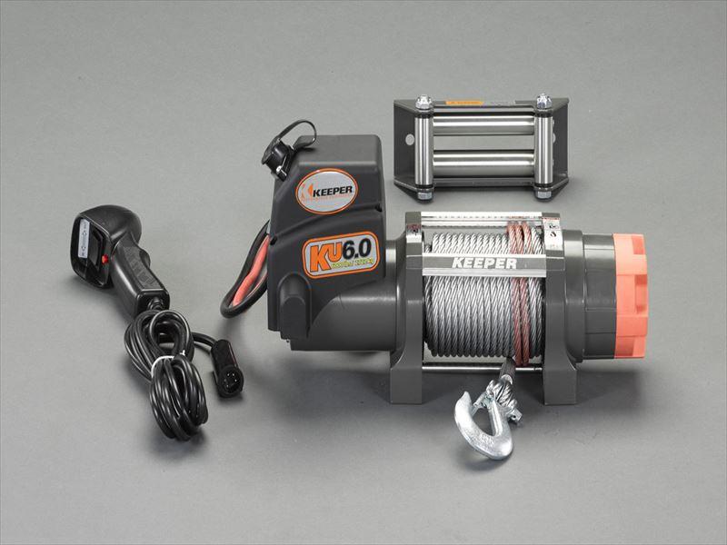 エスコ(ESCO) DC12V/2722kg 電動ウィンチ(直流) EA840DK-6