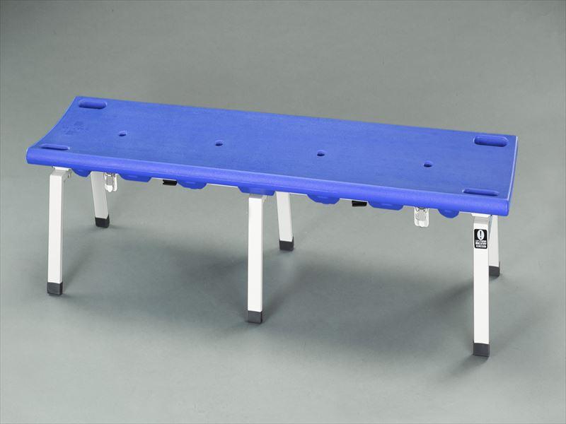 【おまけ付】 エスコ(ESCO) 1780x460x380mm ベンチ(担架兼用/ブルー) EA956XE-61, 安全くん 7e6a56bc