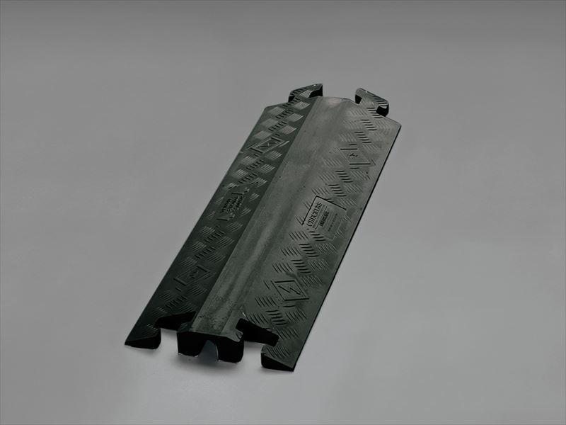 エスコ(ESCO) 914x362x76mm ケーブルプロテクター(下スリット/黒) EA983PD-6