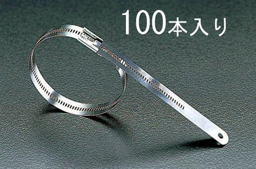 エスコ(ESCO) 6.9x225mm 結束バンド(316ステンレス製/100本) EA463FA-225