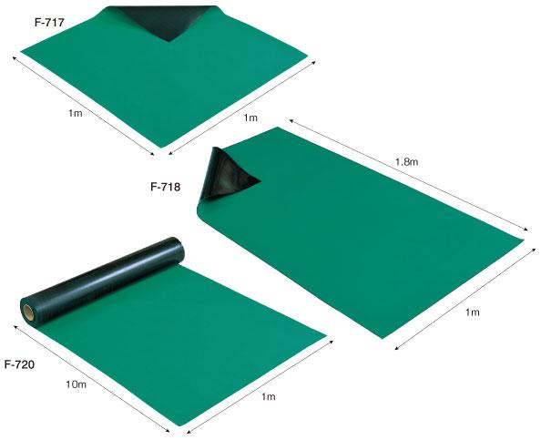 【直送】【代引不可】ホーザン(HOZAN) 導電性カラーマット(グリーン) F-720