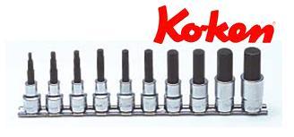 Ko-ken(コーケン) 12.7sq. ヘックスビットソケットレールセット RS4010M/10-L75