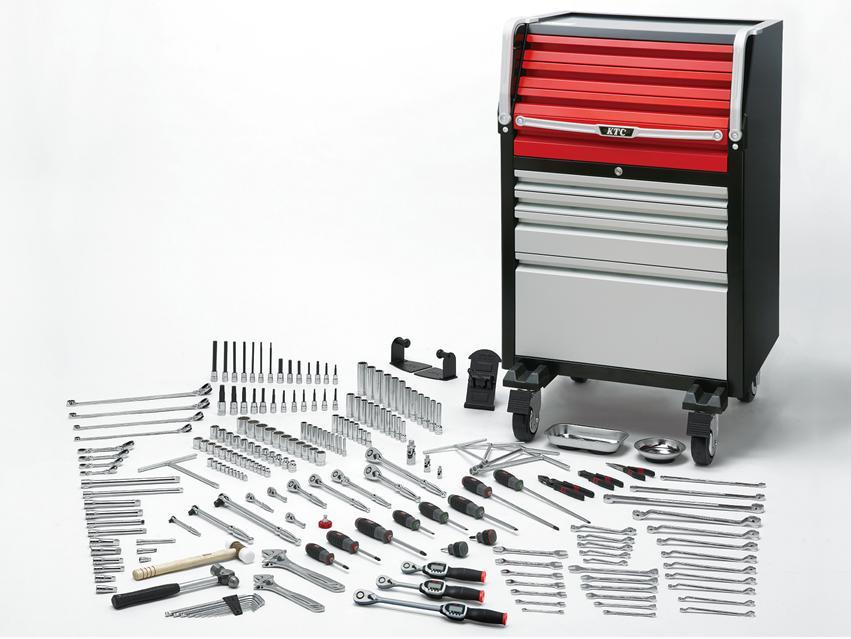【直送】【代引不可】KTC(京都機械工具) 工具セット(ローラーキャビネットタイプ) SK8038EX