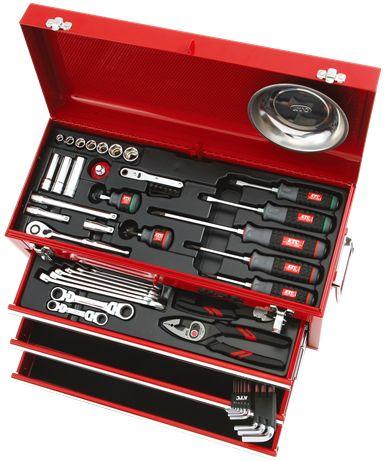 【直送】【代引不可】KTC(京都機械工具) 工具セット(チェストタイプ) SK3567X