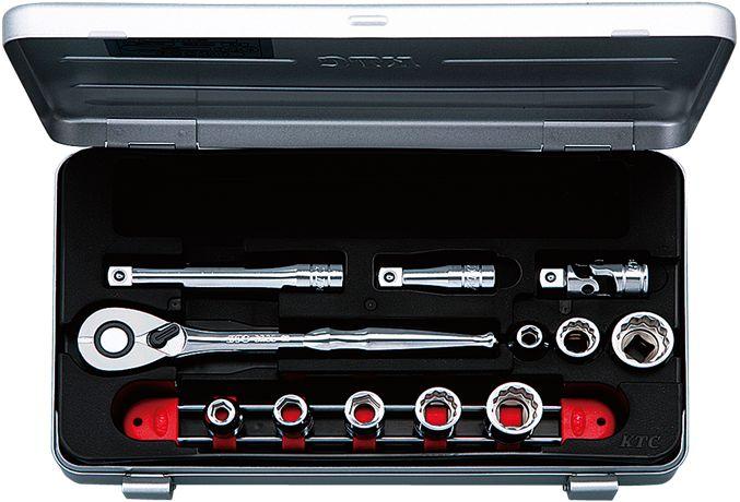 KTC(京都機械工具) 9.5sq. ソケットレンチセット 12点組 TB308X