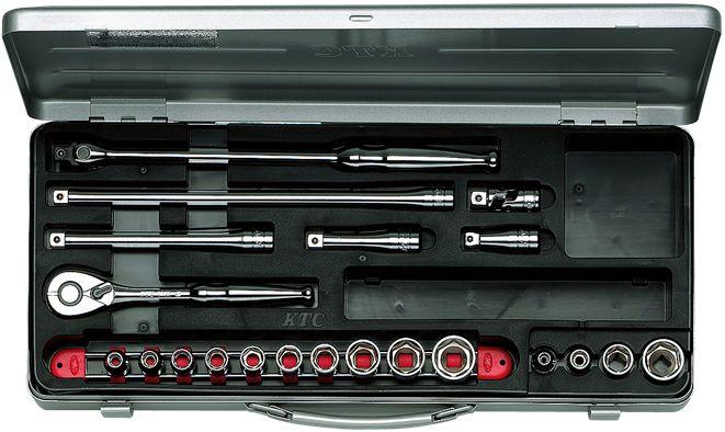KTC(京都機械工具) 9.5sq. ソケットレンチセット 21点組 TB314