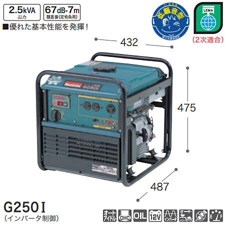マキタ(makita) インバータ発電機 G250I