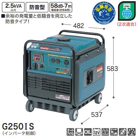 マキタ(makita) インバータ発電機 G250IS
