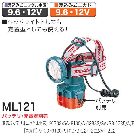 マキタ makita 充電式ヘッドライト 本体のみ 12V 物品 訳ありセール 格安 ML121 9.6