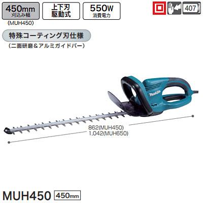 マキタ(makita) 生垣バリカン MUH450