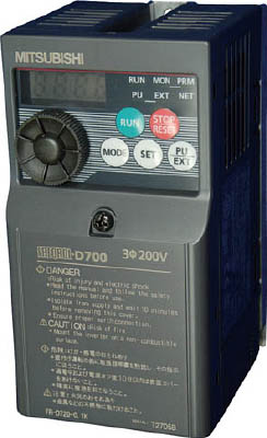 三菱電機 汎用インバータ FREQROL-D700シリーズ FR-D720-0.1K